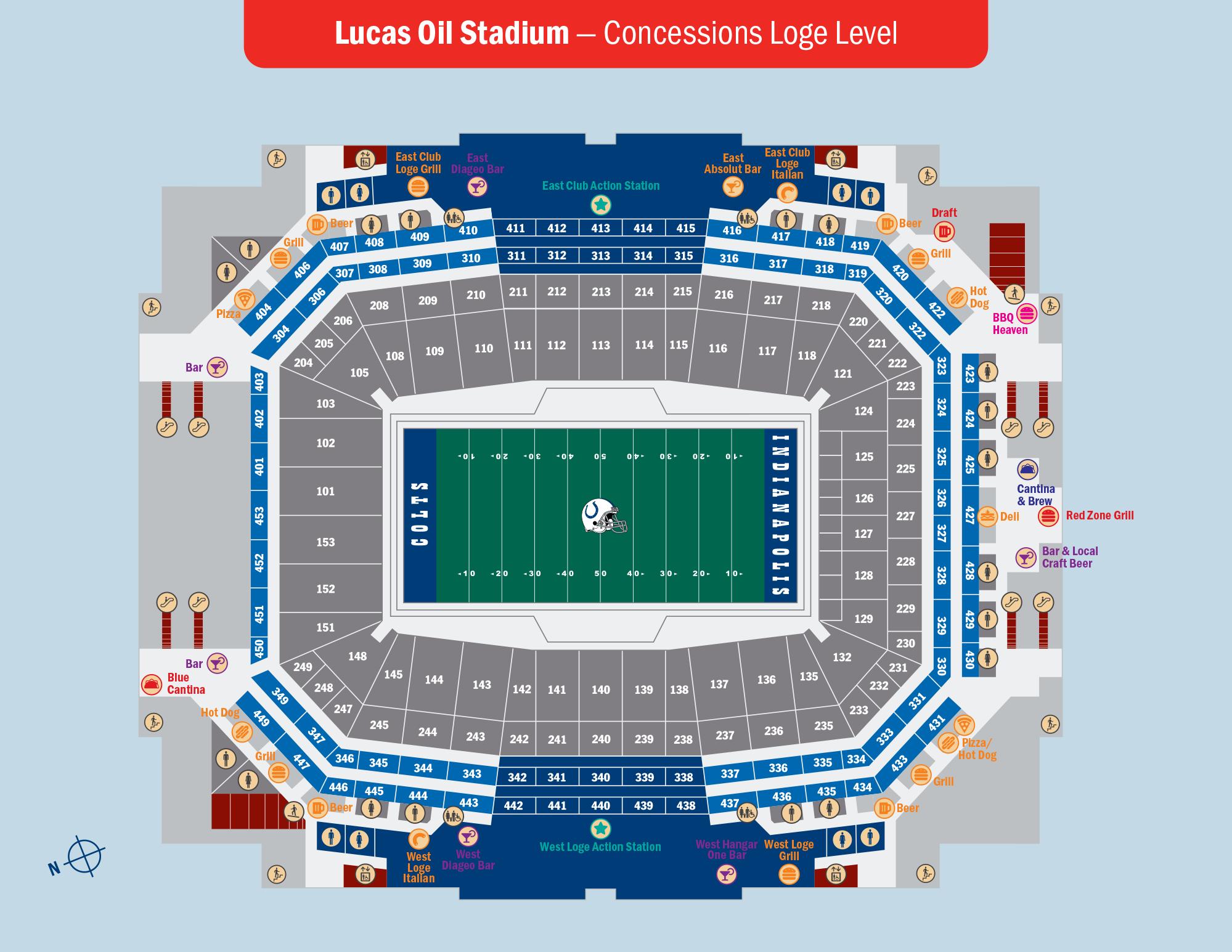 Lucas Oil Stadium Concessions Loge Level
