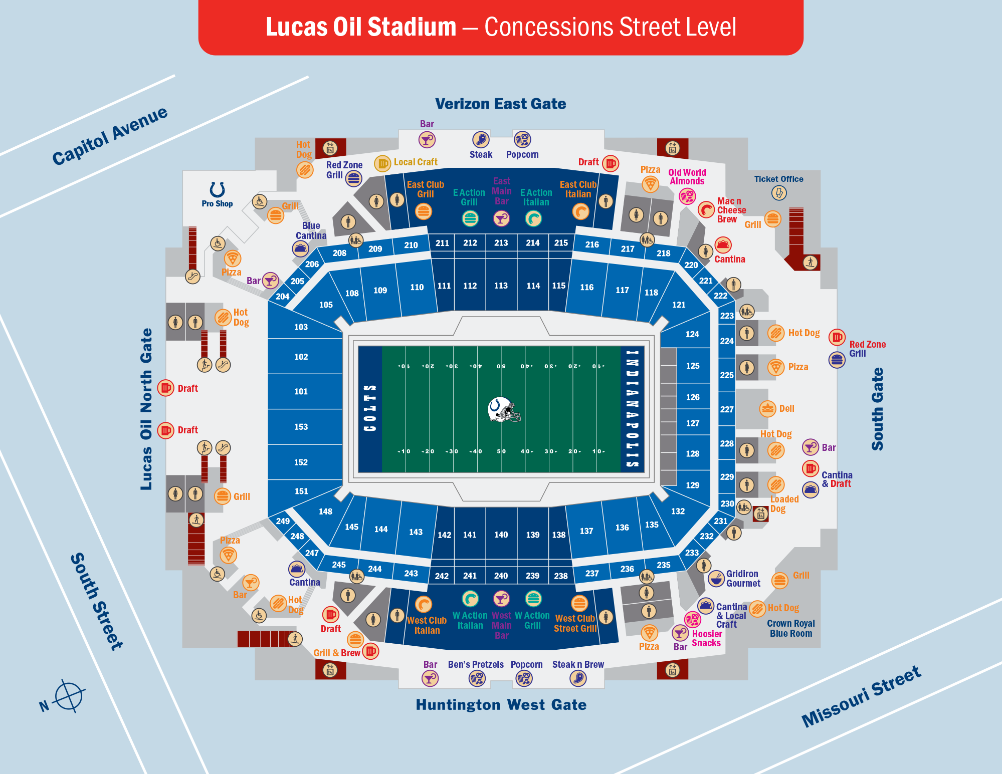 Lucas Oil Stadium Concessions Street Level