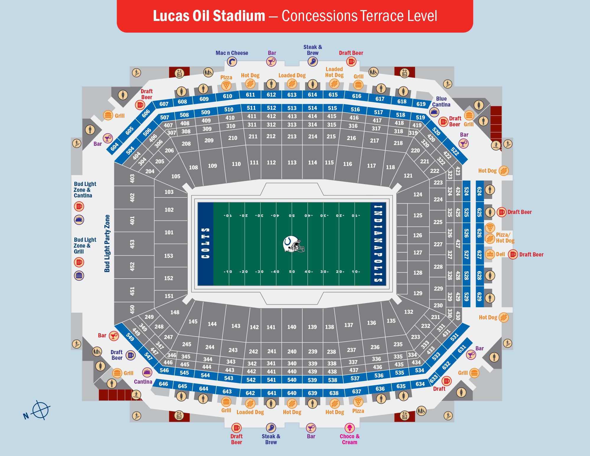 Lucas Oil Stadium Concessions Terrace Level